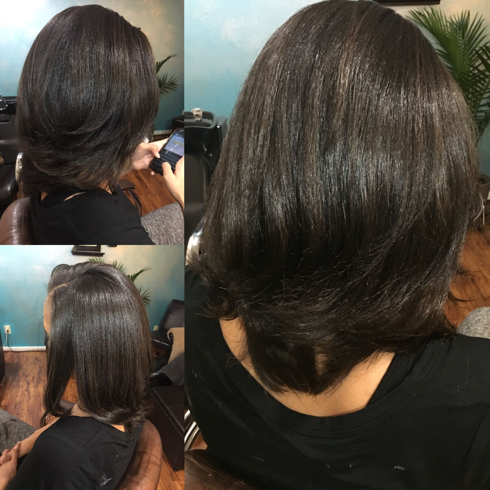 Straight perm groupon - Chi Enviro Smoothing Treatment On Natural Hair Treatment Cut And Style By