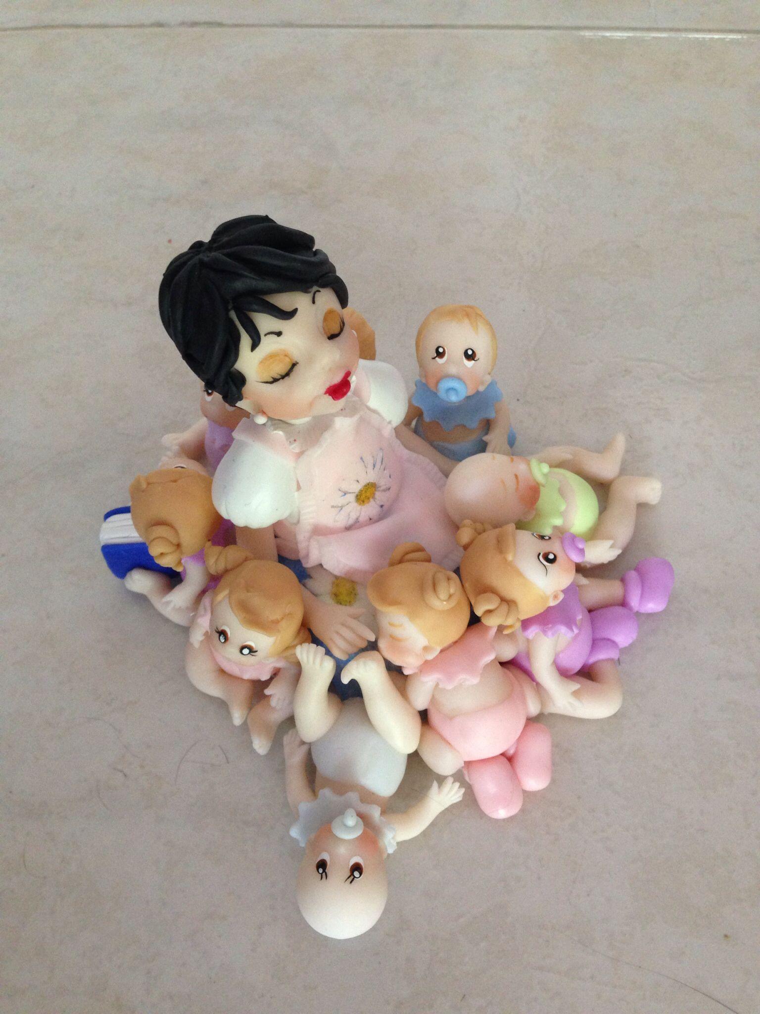 Mama y sus 9 bebes