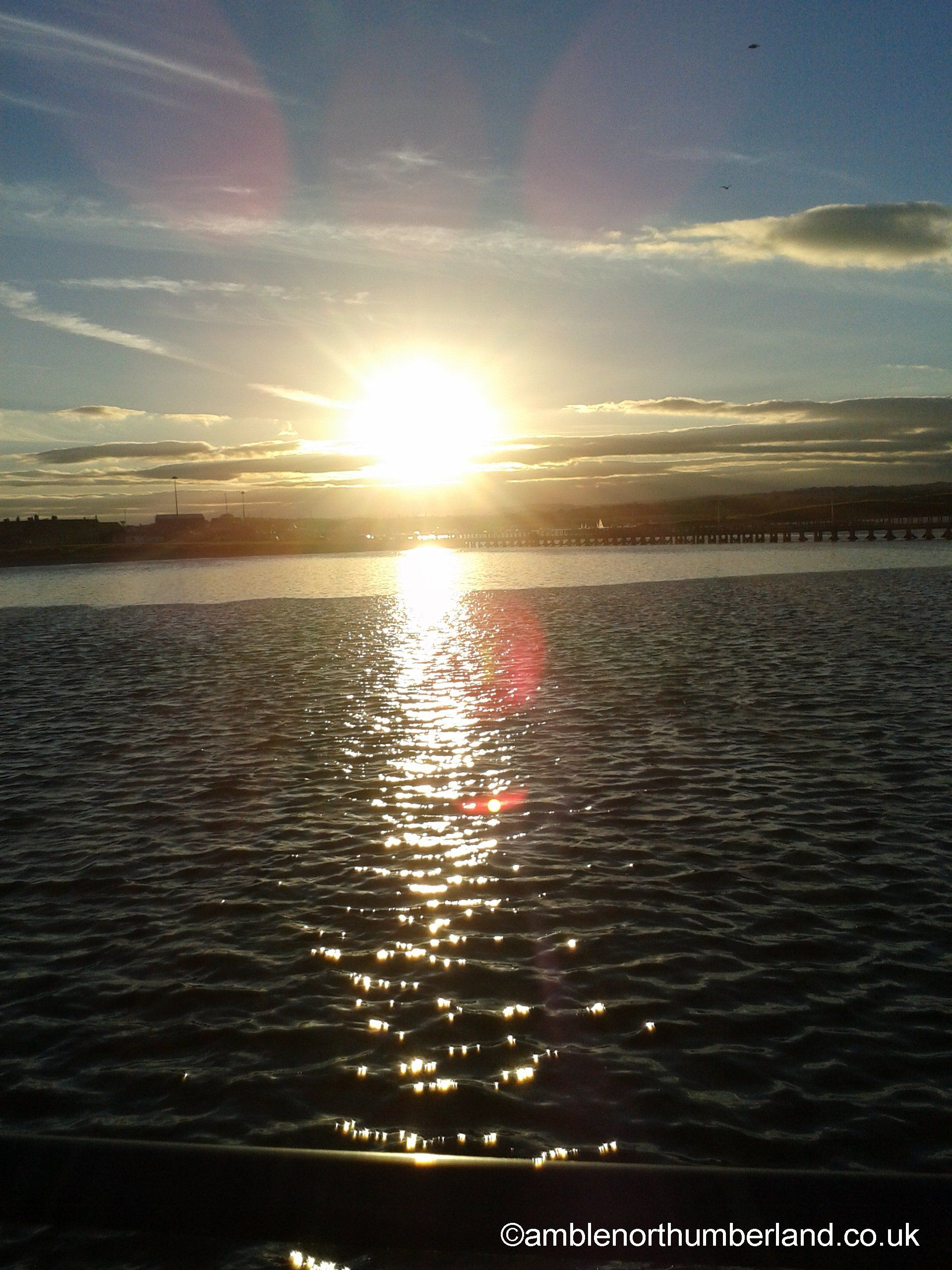 Sunset at Amble Harbour