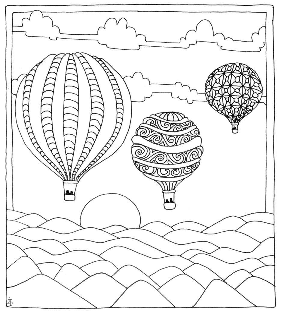 Pin de Barbara en coloring balloon, umbrella | Pinterest | Colorear ...