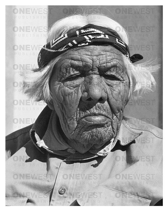Circa 1940's Native American Portrait by Andre by 1westpublishing, $49.00