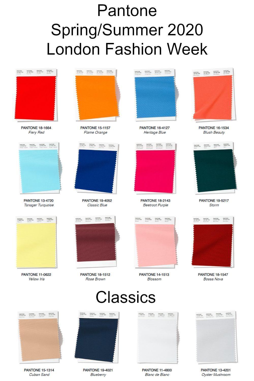 Resultado de imagen de london fashion week spring summer 2020 palette pantone color trends