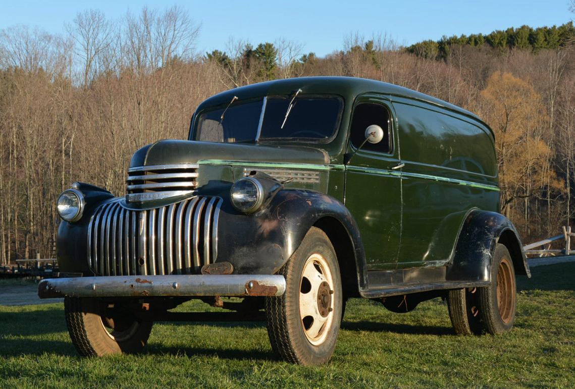1946 Chevrolet 1-1/2 ton dually Panel Maintenance/restoration of old ...