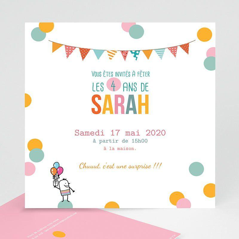 texte invitation anniversaire fille 5 ans