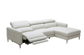 Exquisite Furniture Italian Leather Upholstery Sectional Sofa With Recliner Grey Leather Sectional Leather Sectional Sofa