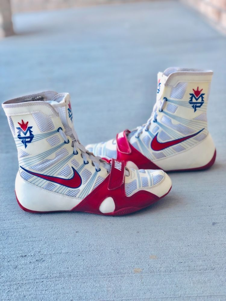 inferencia inteligencia antártico  Rare Nike Manny Pacquiao Hyperko MP Trainer Boxing Shoes Boots Size 8.5 |  Boxing shoes, Boxing boots, Nike casual shoes