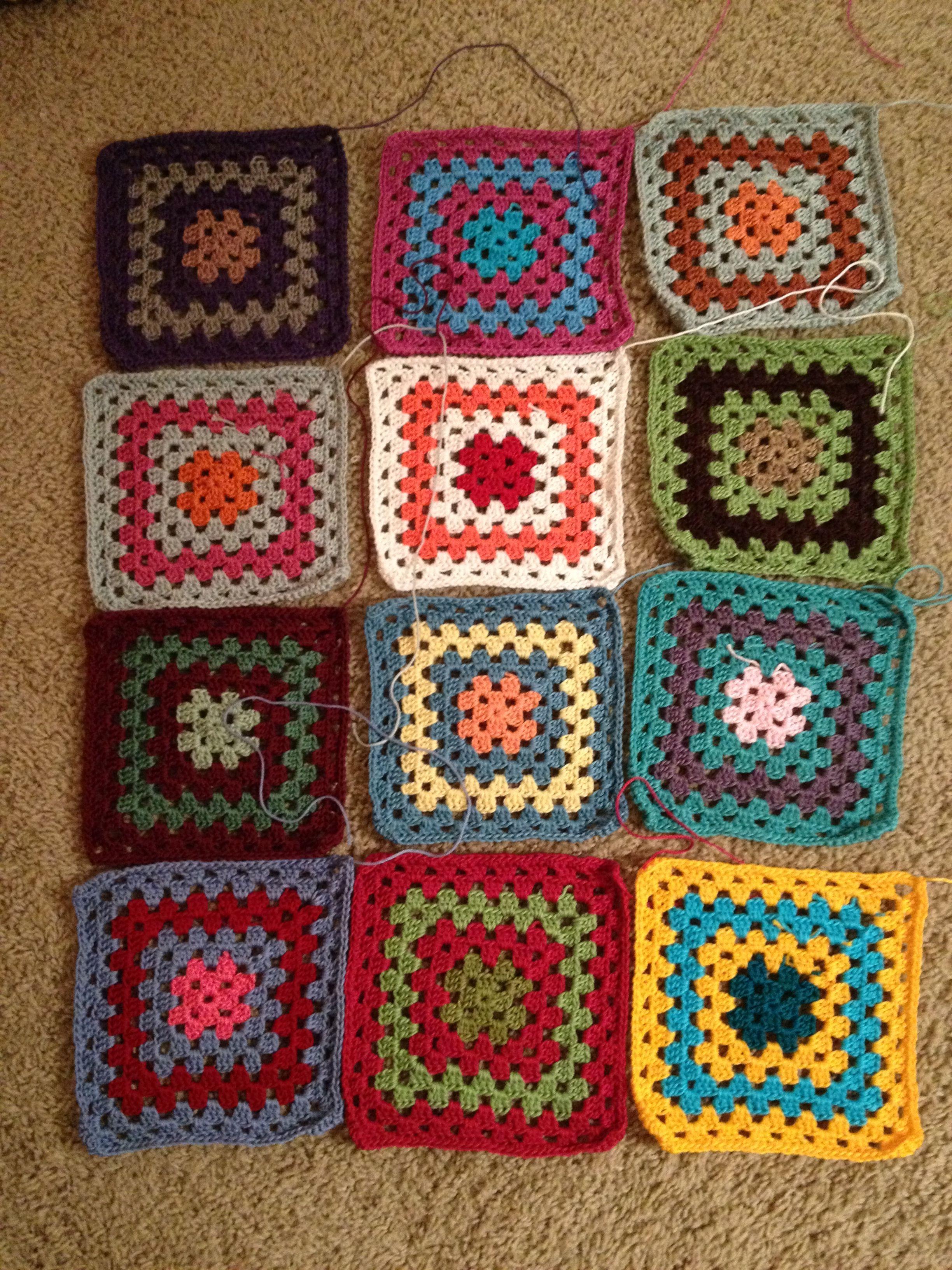 Scrap yarn crochet work in progress | Things I made | Pinterest