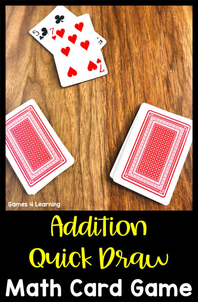 7 Simple Math Card Games Math card games, Simple math