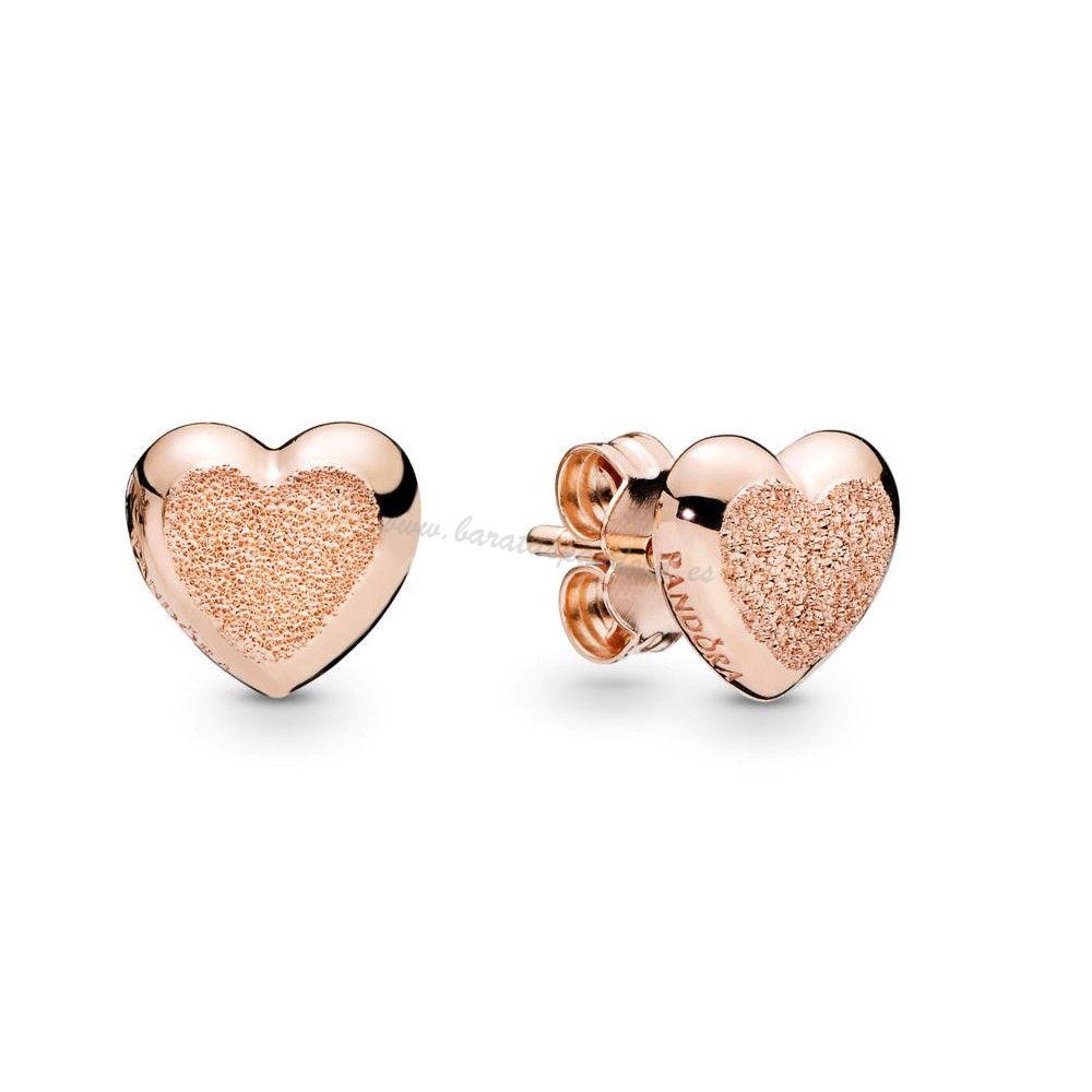 Ofertas Brillantez Mate Corazóns Pendientes, Pandora Rose™ Pandora ...