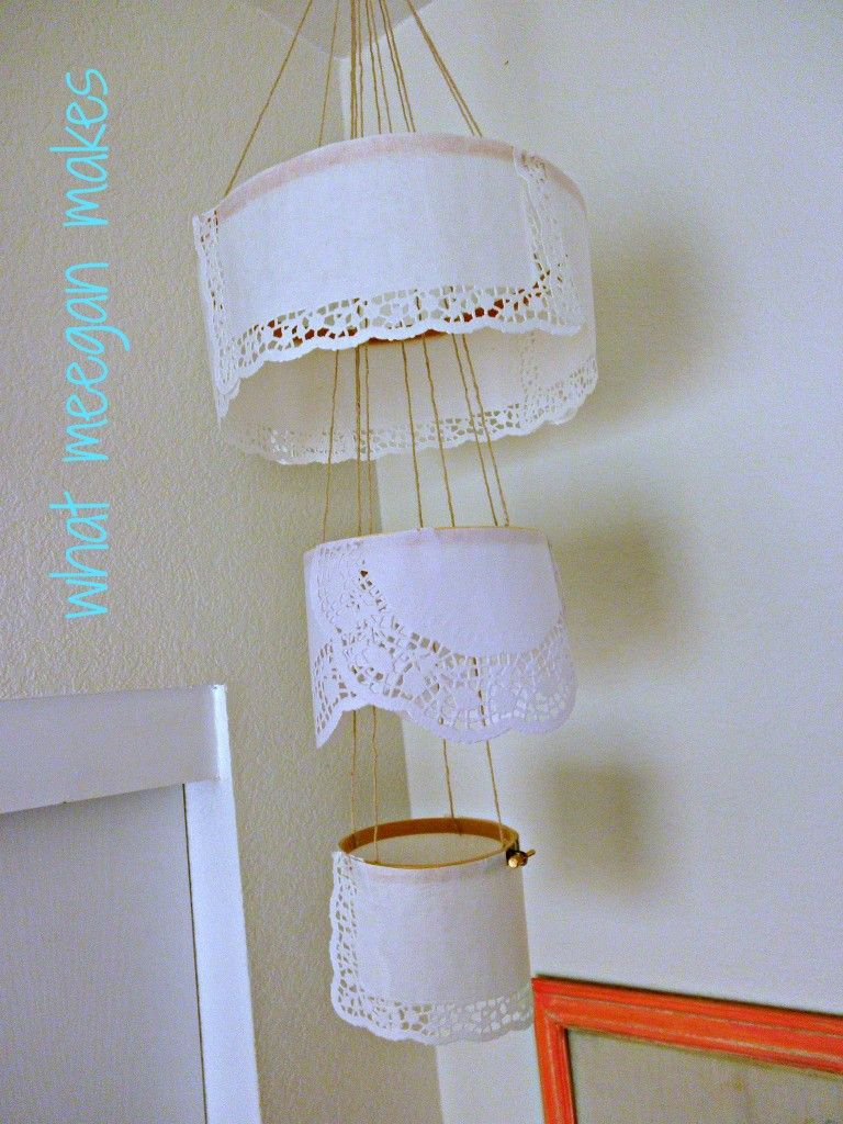 My paper doily chandelier paper doilies chandeliers and paper my paper doily chandelier arubaitofo Image collections