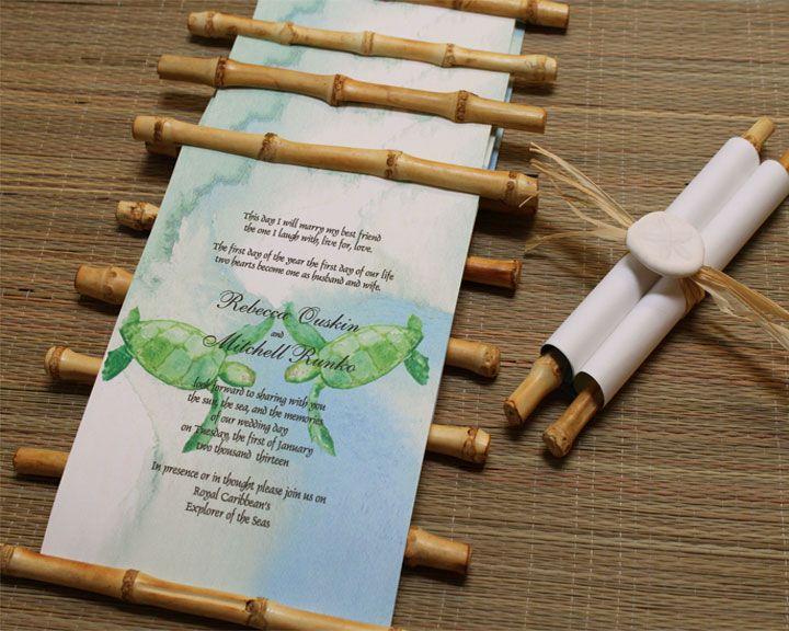 Bamboo Scroll Wedding Invitation | Designs by Lenila