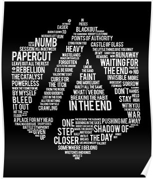 New Art Linkin Park All Name Full Album Poster By