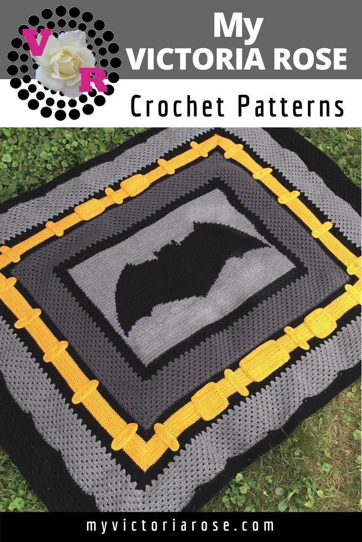Crochet Pattern Store   My Victoria Rose   Graphghan My Victoria Rose   Justice League Batman Croch