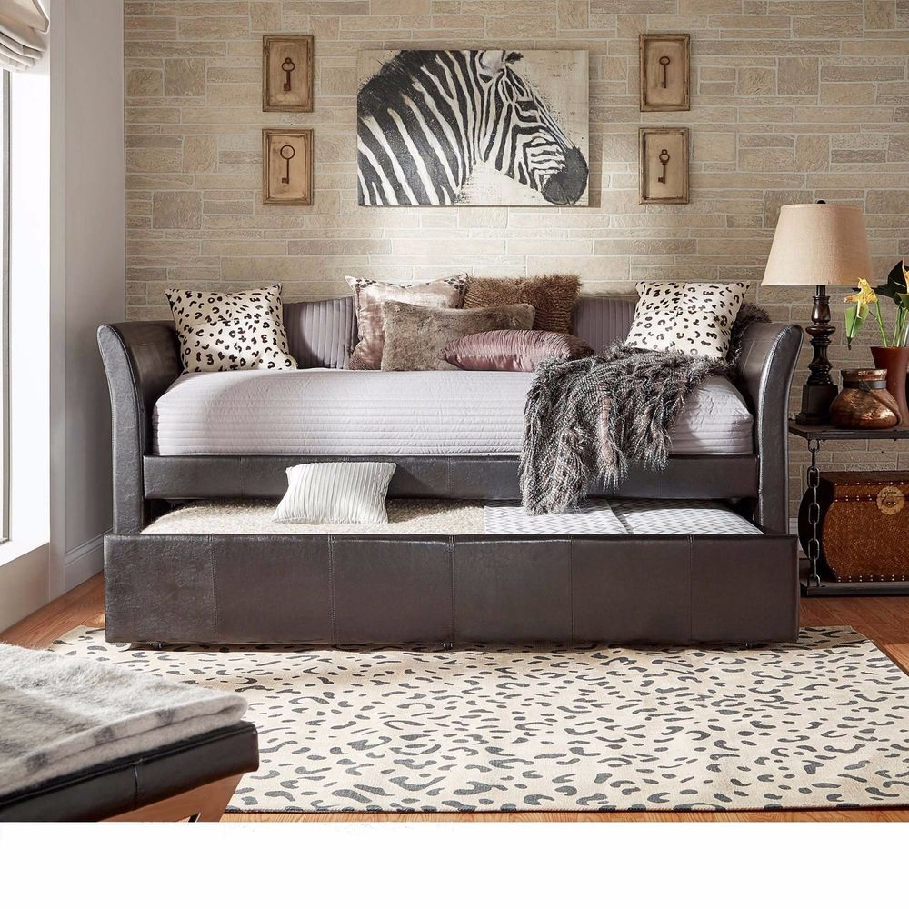 The roll out trundle bed is the perfect space saving