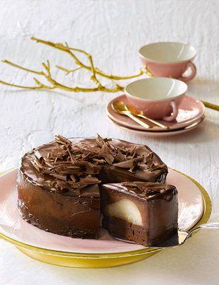 schokoladen birnen torte lindt spr ngli schweizer. Black Bedroom Furniture Sets. Home Design Ideas