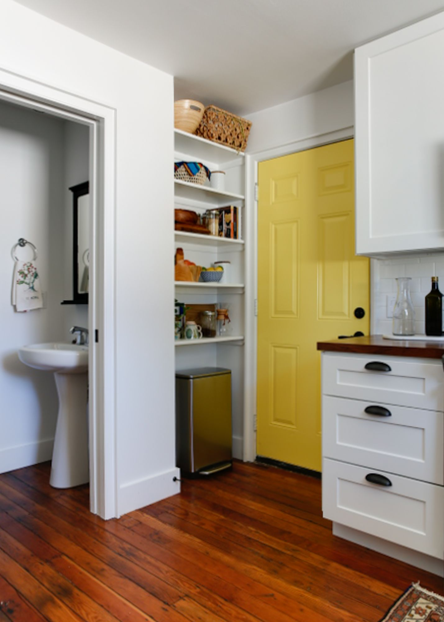 A little extra powder room off the kitchen.
