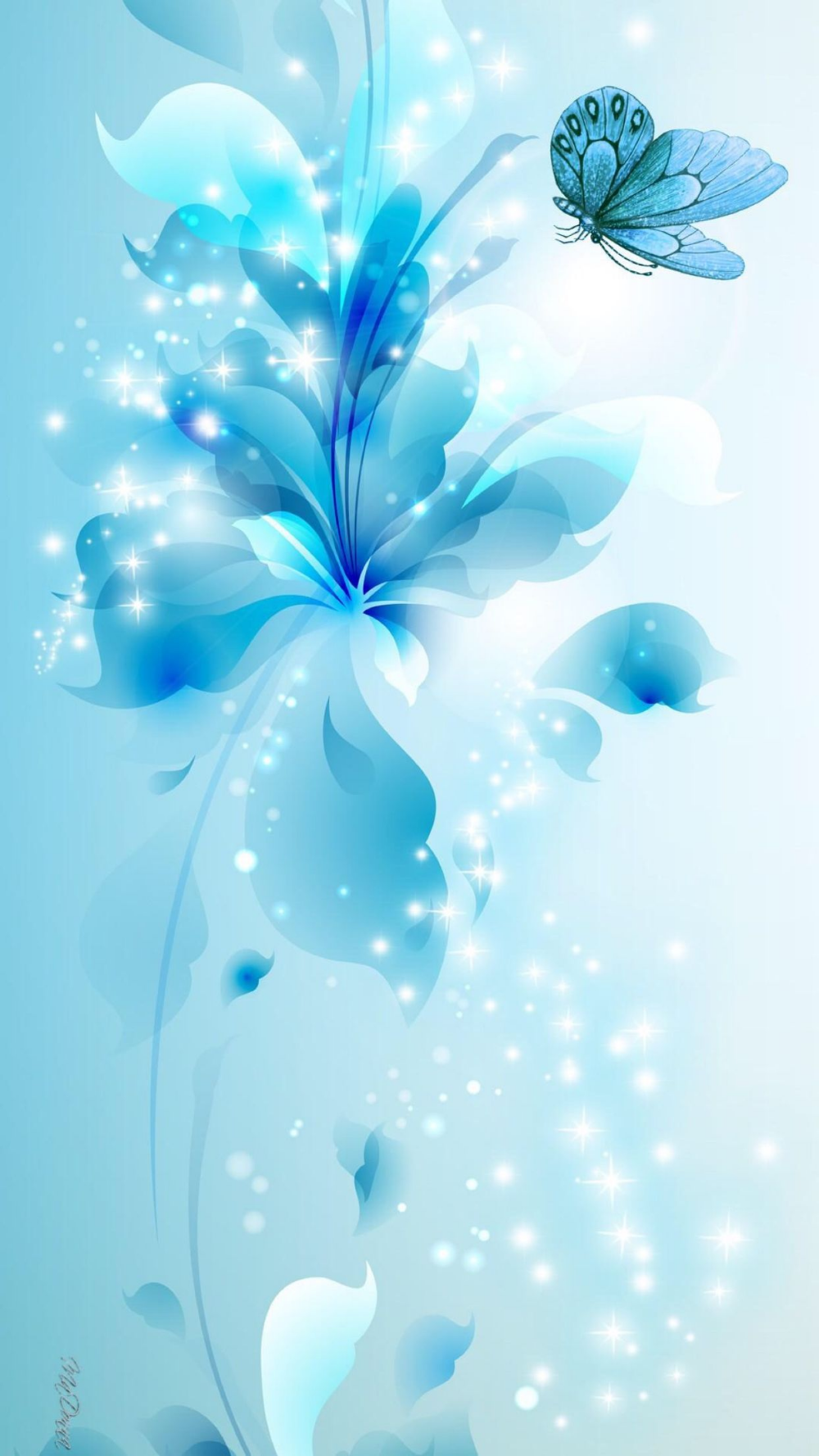 Blue Turquoise Light Abstract Butterfly Flowers Apple Wallpaper Iphone Clean Beauty In 2020 Blue Flower Wallpaper Butterfly Wallpaper Best Flower Wallpaper