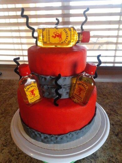 Fireball Birthday Cake The Cakes I Ve Made Birthday