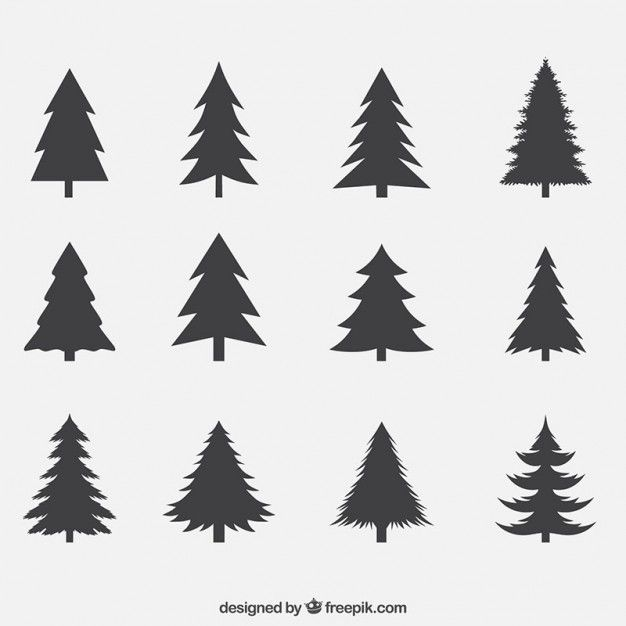 Download Silhouettes Of Pines Pack For Free Christmas Tree Silhouette Pine Tree Silhouette Xmas Tree