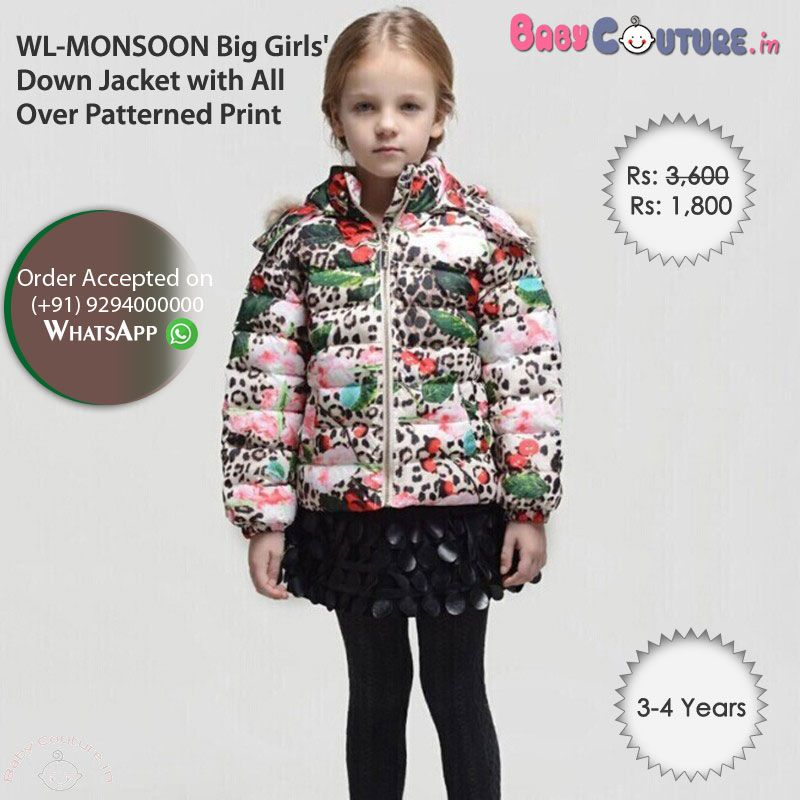 294f0eb893af WL-MONSOON Big Girls  Down Jacket with All Over Patterned Print ...