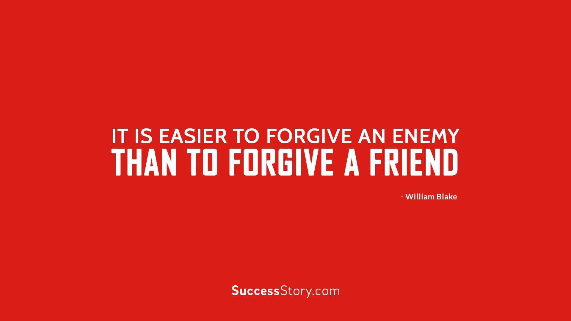 Forgiveness is a noble virtue and only reflects a humane spirit. Vengeance only…