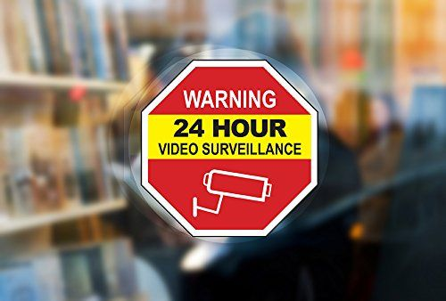 Video Surveillance Warning Inside Window Static Cling D Https Www Amazon Com Dp B073ny2dkk Ref Cm Sw R Pi D Video Surveillance Static Cling Surveillance