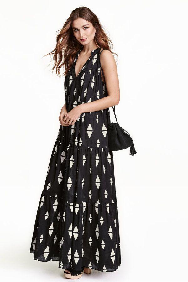 ab2646951b67 H & M Patterned Maxi Dress $19.99 #niftyfashion #loosefit #h&m #summer16