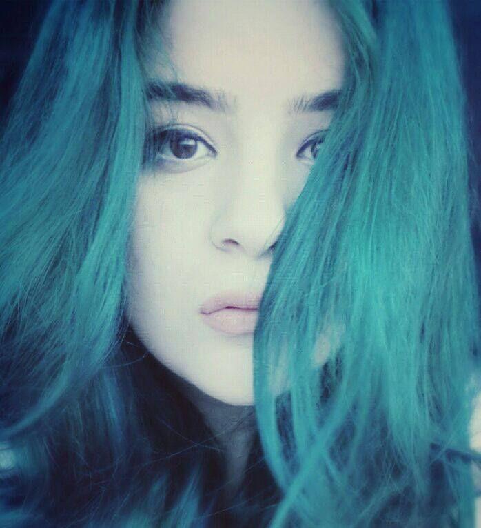 Brown Eyes And Teal Hair Voodoo Blue Teal Hair Blue Hair