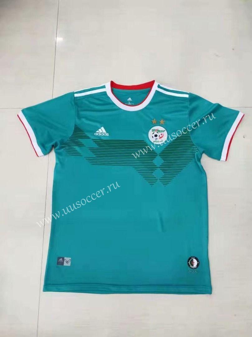 2 Star 2019 2020 Algeria Away Green Thailand Soccer Jersey Aaa Soccer Jersey Football Shirts Soccer