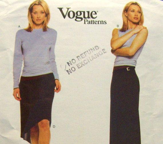 Vogue American Designer Calvin Klein Sewing Pattern