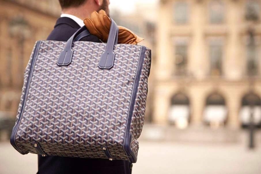 Goyard Men's Tote Bag.