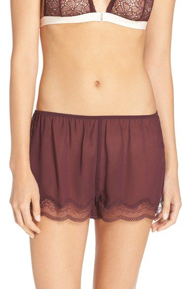 Chelsea28 Lace Trim Chiffon Shorts | Nordstrom