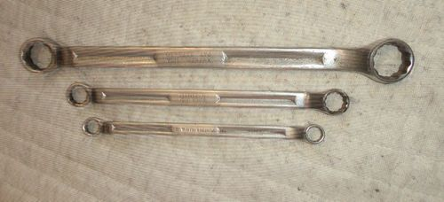 Snap-On set of 3 Standard Box Wrenches Tools XV-1214, XV-1618, XV 2628 find me at www.dandeepop.com