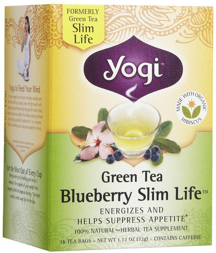 Yogi Tea Green Tea Blueberry Slim Life Herbal Supplement Tea Bagsto