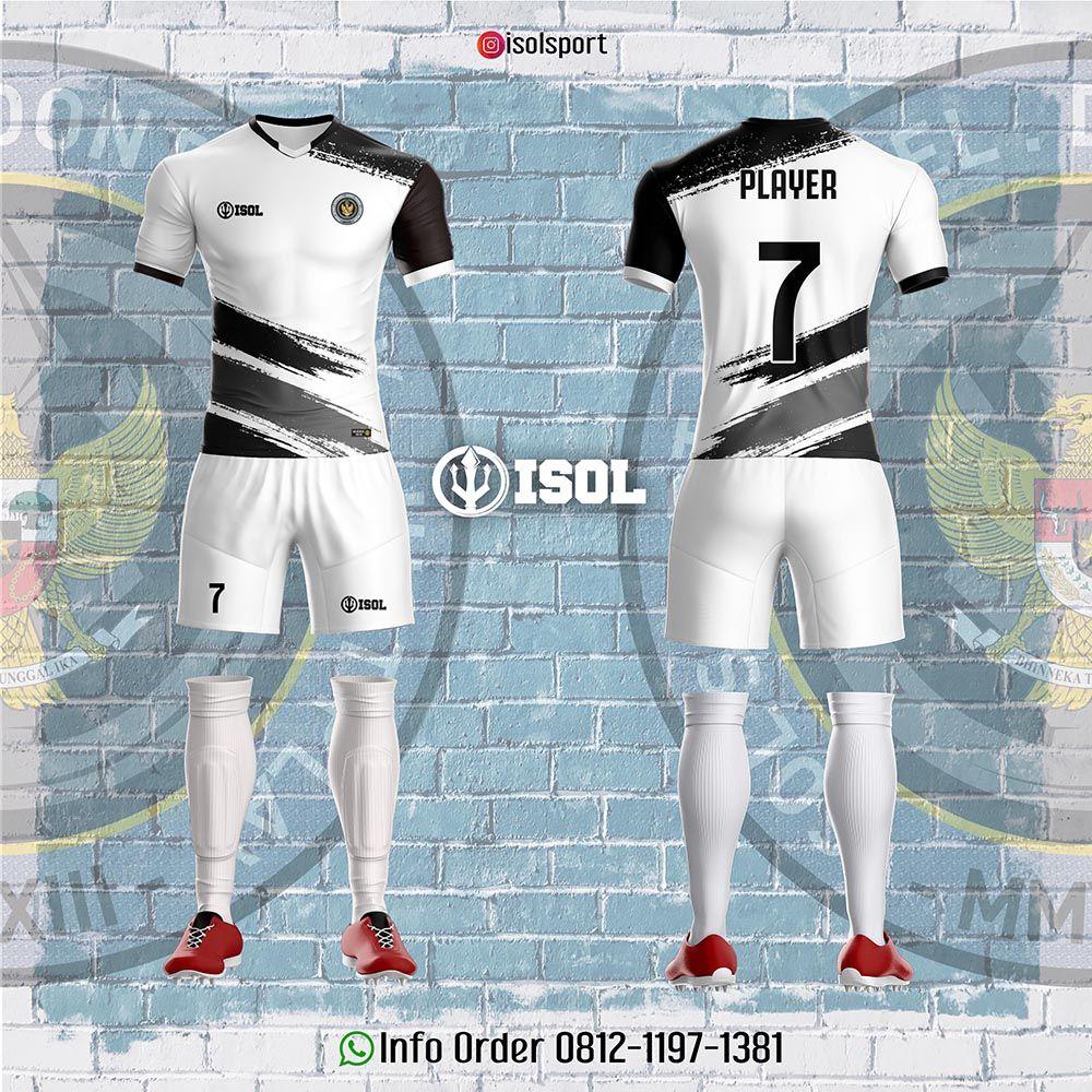 Desain Jersey Bola Full Print Hitam Putih Pemain Sepak Bola Desain Sepak Bola