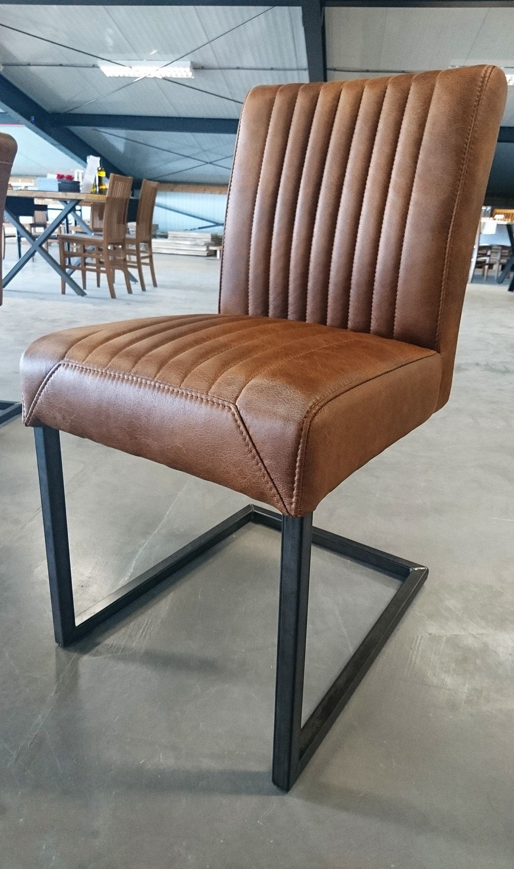 Leren Fauteuil Cognac Kleur.Lederen Stoel Cognac Kleur Leather Chair Cognac Stoel Cognac