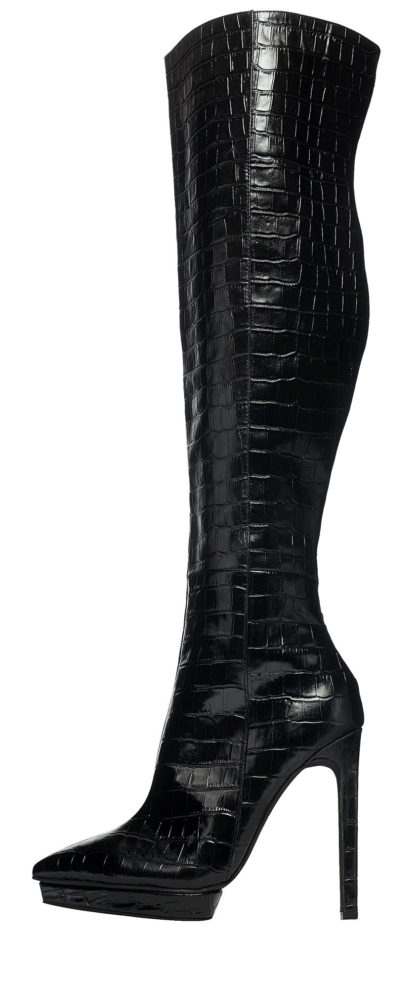 Jeffrey Campbell Shoes FEIST Shop All in Black Croco