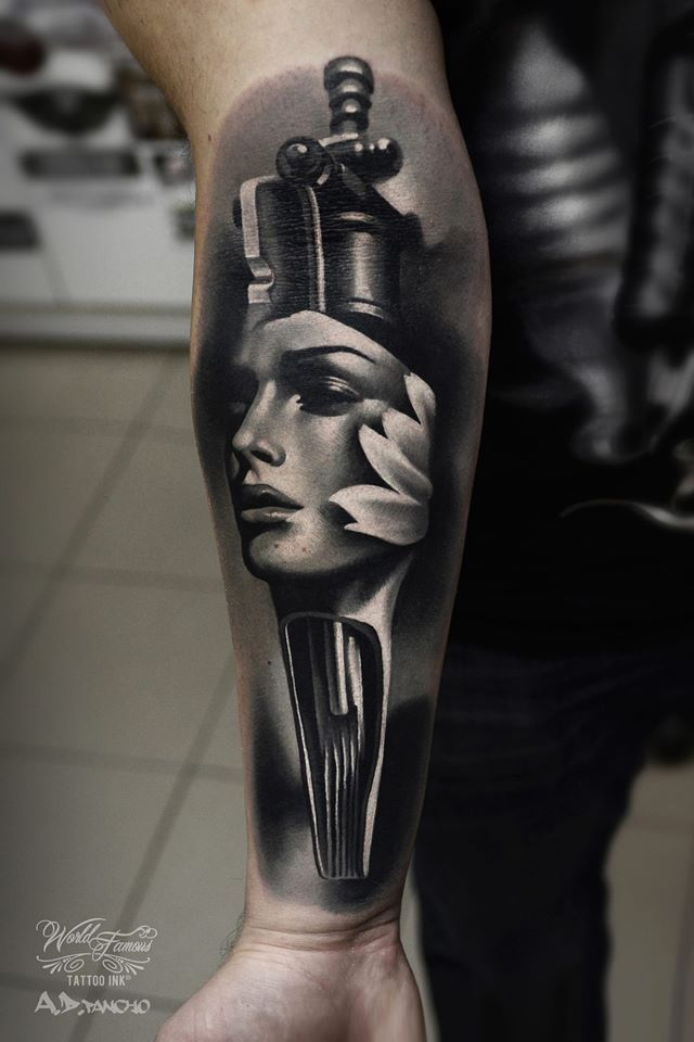 Amazing Black And Gray Tattoo On Forearm 3d Tattoo Black And Grey Tattoos Amazing 3d Tattoos