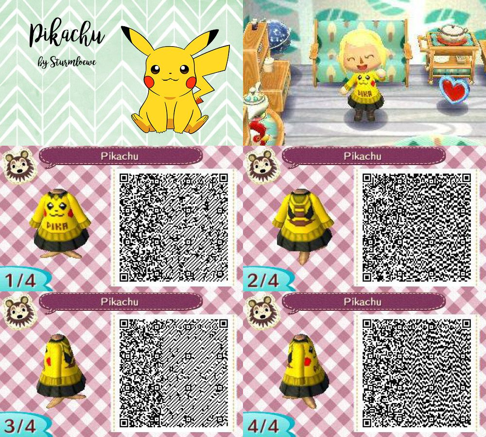 Animal crossing new leaf qr code cute pikachu dress outfit for Boden qr codes animal crossing new leaf
