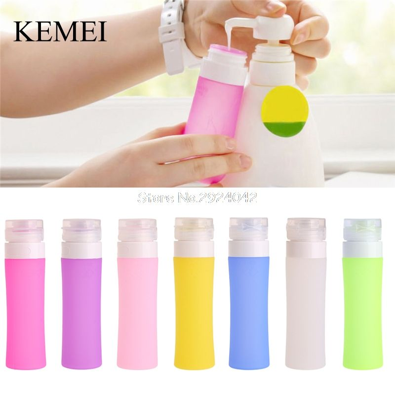 7 Colors Portable Refillable Silicone Bottle Traveler Lotion