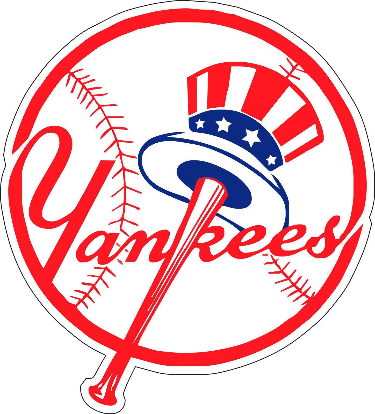 New York Yankees Mlb Baseball Bumper Sticker Wall Decor Vinyl Decal 5 X 4 5 New York Yankees Logo Yankees Baseball New York Yankees