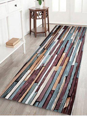 Stone Wall Pattern Fleece Floor Rug In