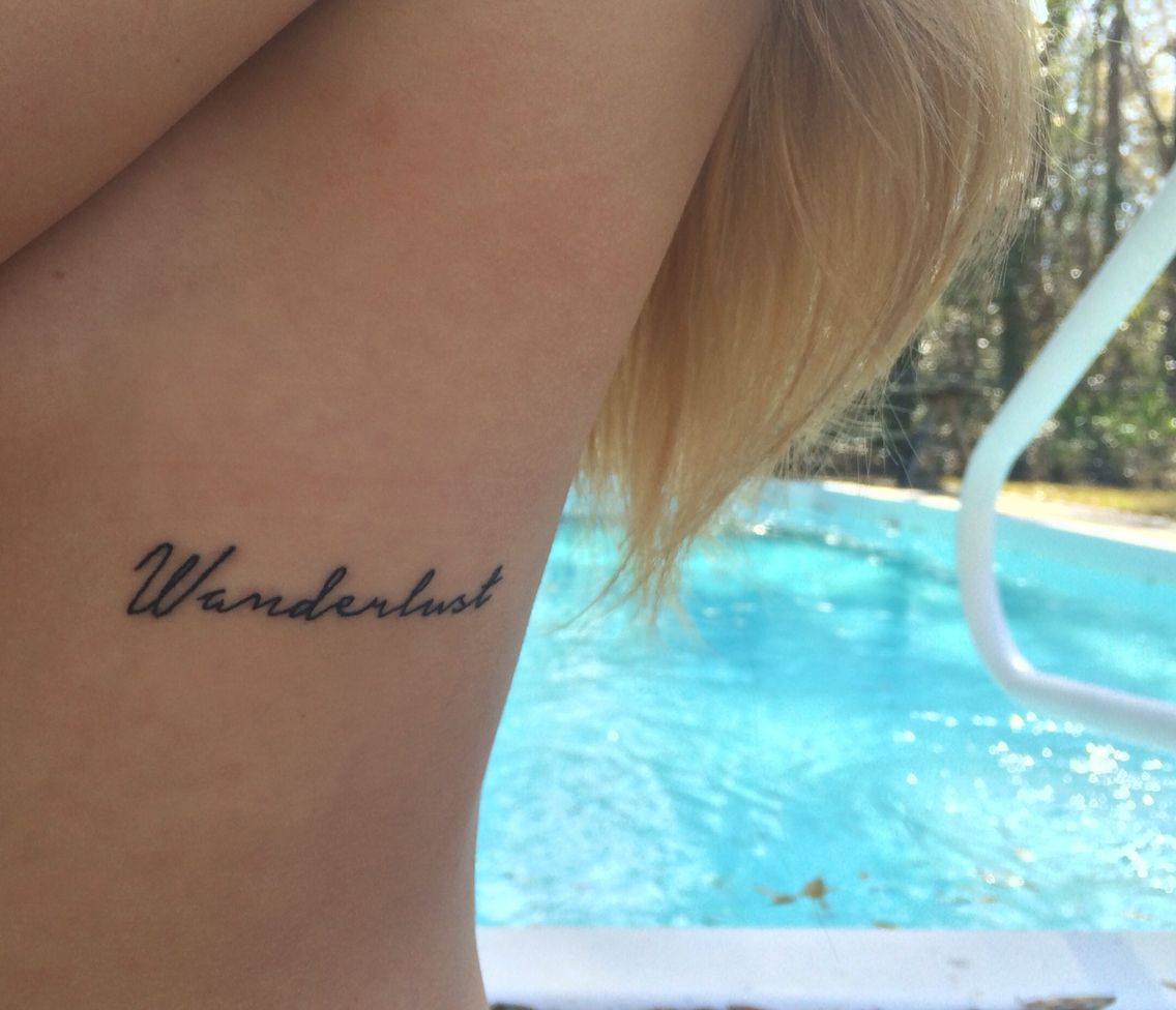 Wanderlust tattoo ribcage tattoo wanderlust adventure for Adventure is out there tattoo