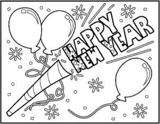 Happy New Year New Year Coloring Pages Coloring Pages New Year Printables