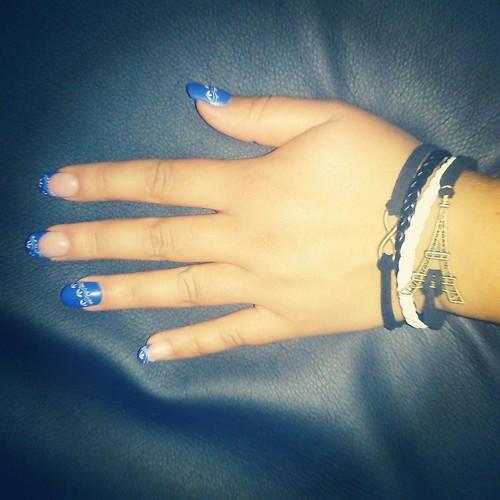 I love my new nails and this bracelet. eiffeltower -  #bracelet