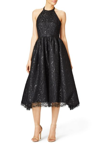 Shoshanna Alegria dress: http://www.stylemepretty.com/2015/11/15/photo-ready-winter-wedding-guest-outfit-ideas/