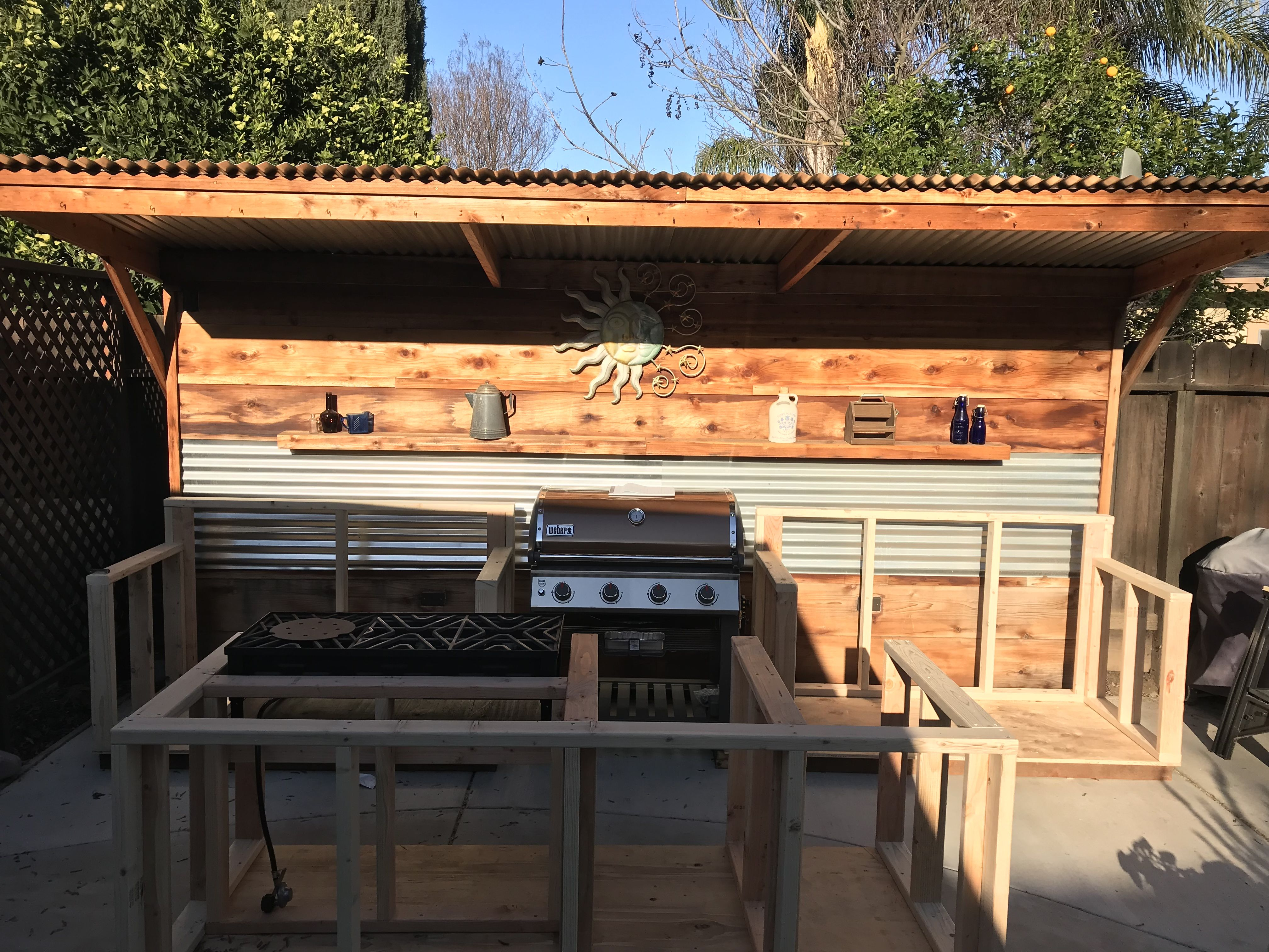 Day 3 Of My Outdoor Kitchen Build Is Over My Body Too Finished The Framework For The Island And My Three Burner S Outdoor Kitchen Burner Stove Outdoor Decor