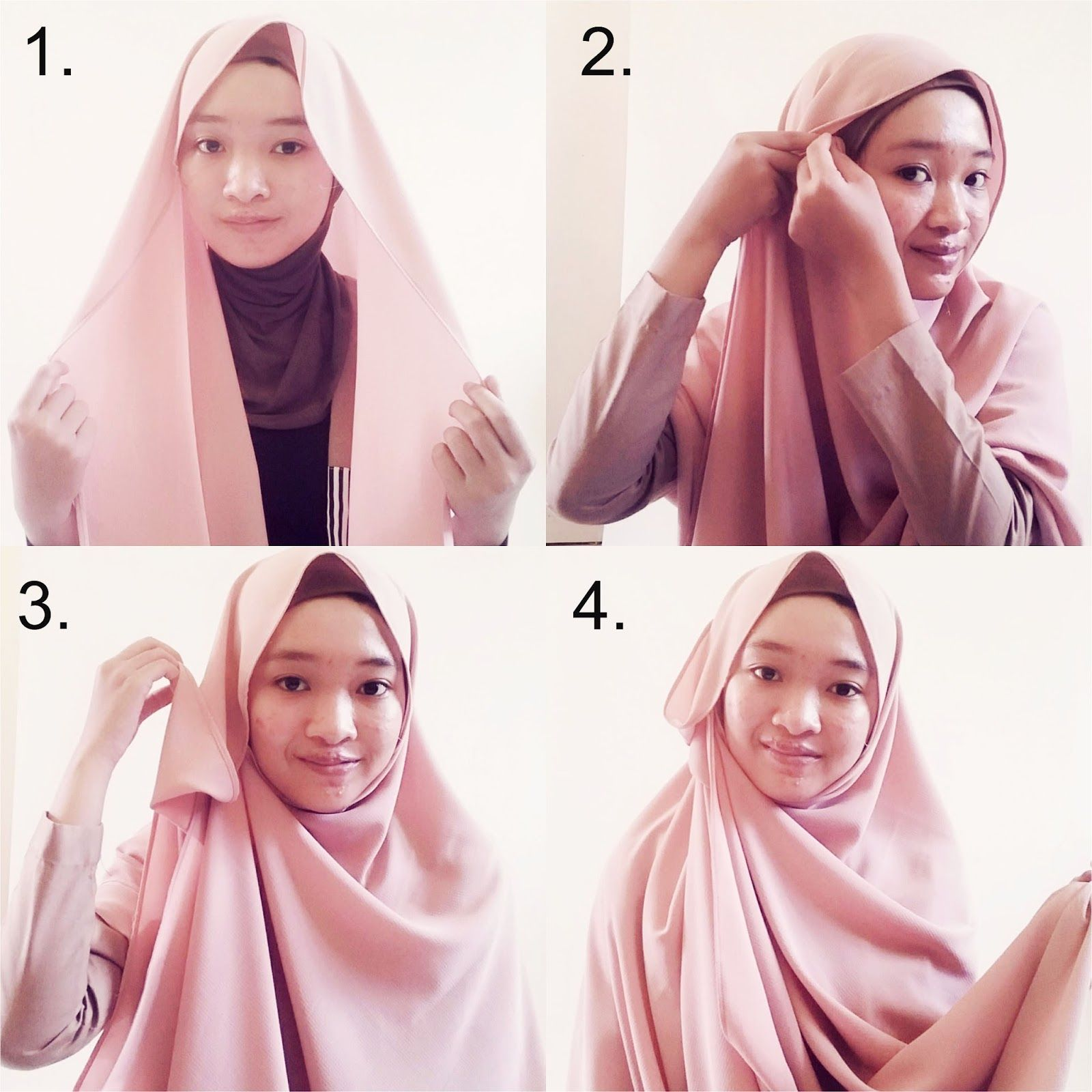 Tutorial Hijab Pashmina Jadi Syari Ragam Muslim Tutorial Hijab Pashmina Hijab Gambar