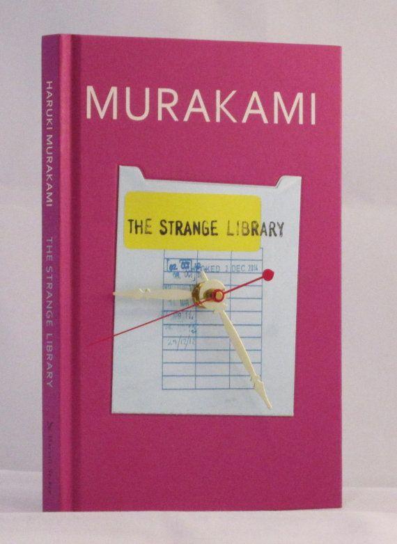 Haruki Murakami Clock Pink Clock Library Decor by MyBooklandia