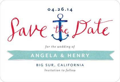 Save the Date Magnets - Anchor Me by Wedding Paper Divas